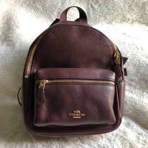 Maroon Coach Mini Backpack